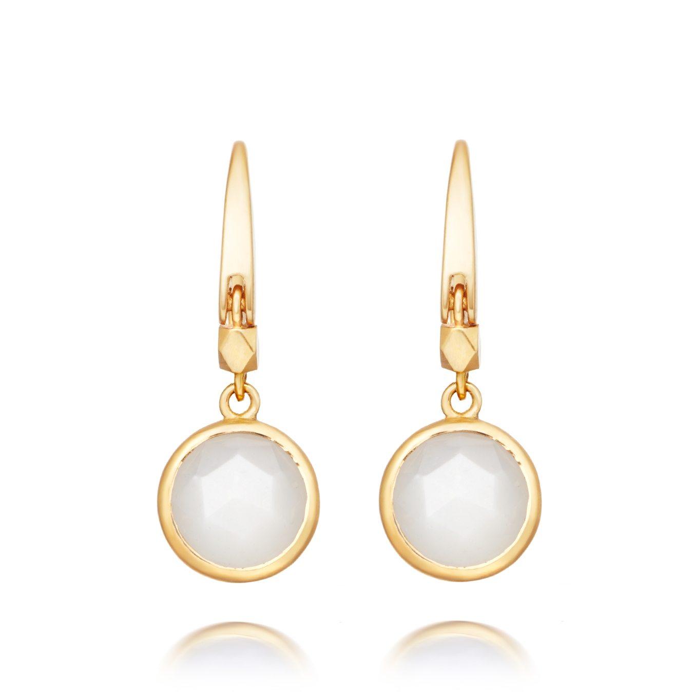 Mini Round Stilla Moonstone Earrings