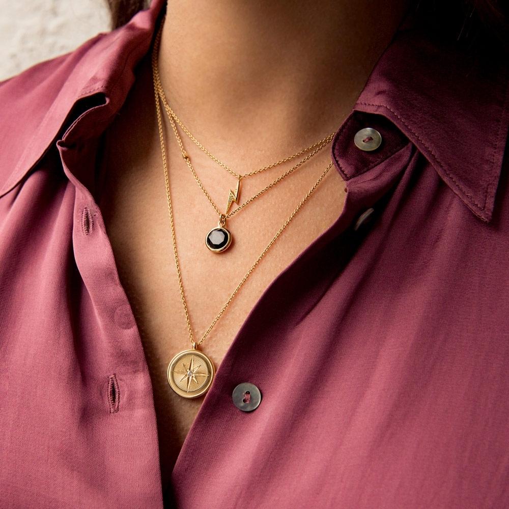 Round Stilla Black Onyx Pendant Necklace