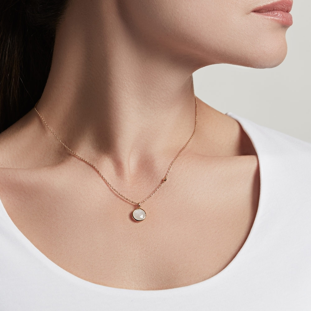 Round Stilla Moonstone Pendant Necklace