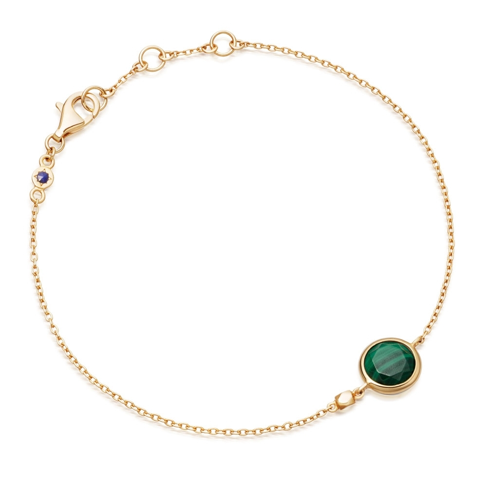 Mini Round Stilla Malachite Bracelet