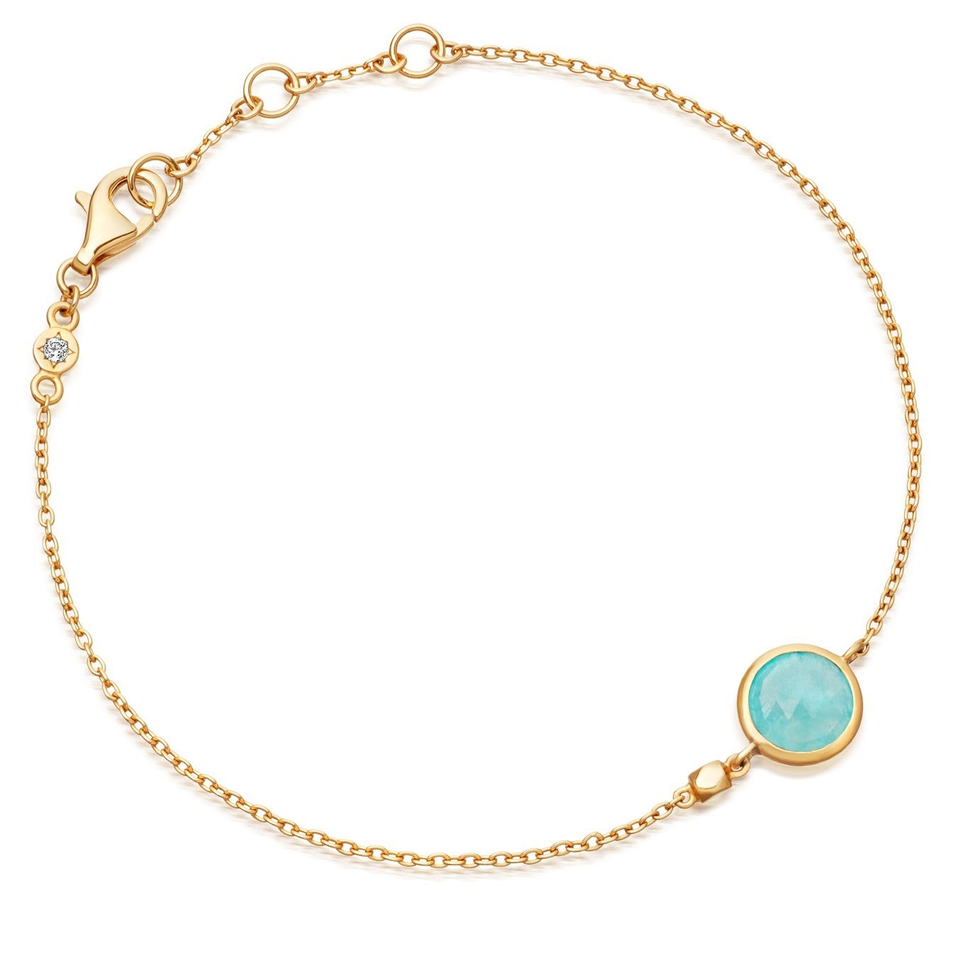 Mini Round Amazonite Stilla Bracelet