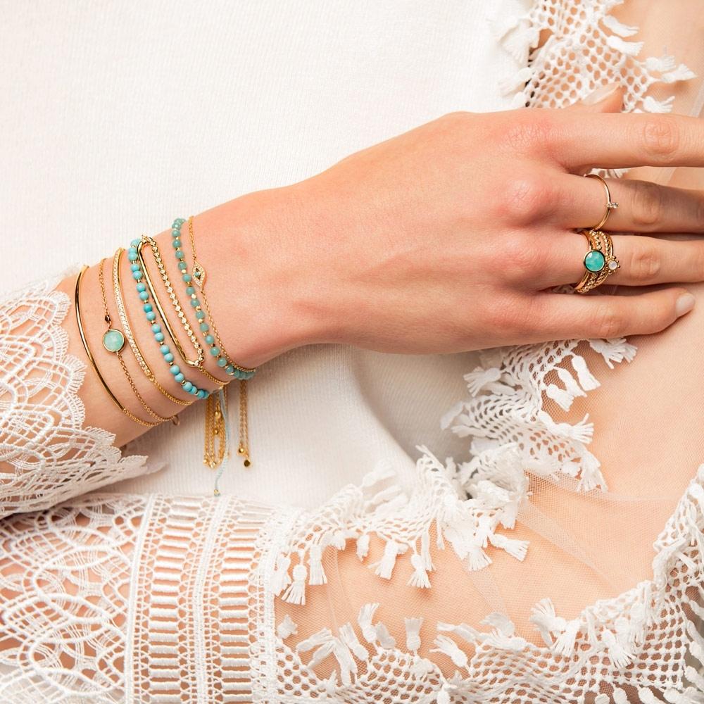 Mini Round Amazonite Stilla Bracelet