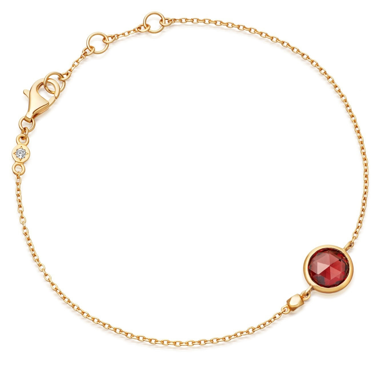 Mini Round Stilla Red Garnet Bracelet