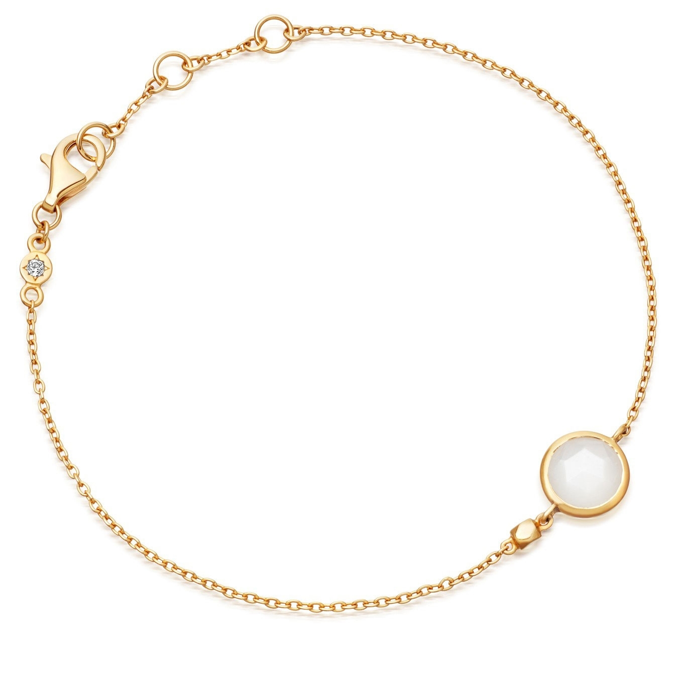 Mini Round Stilla Moonstone Bracelet