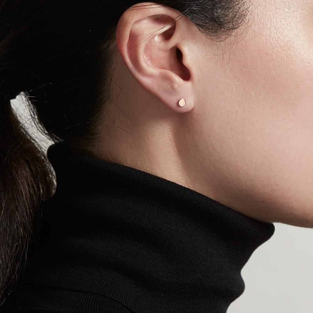 Disc Stilla Single Stud Earring