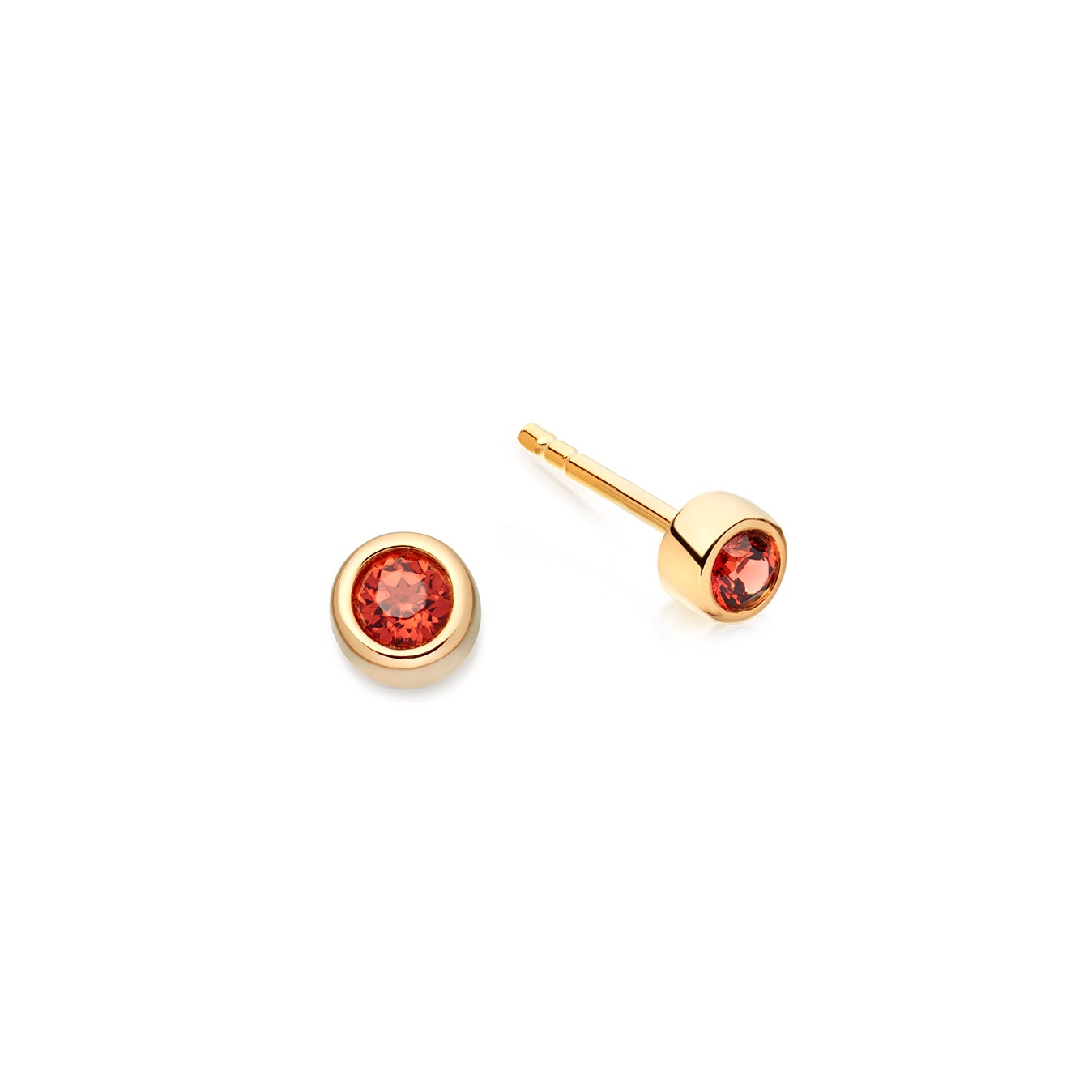 Mini Garnet Stilla Stud Earrings