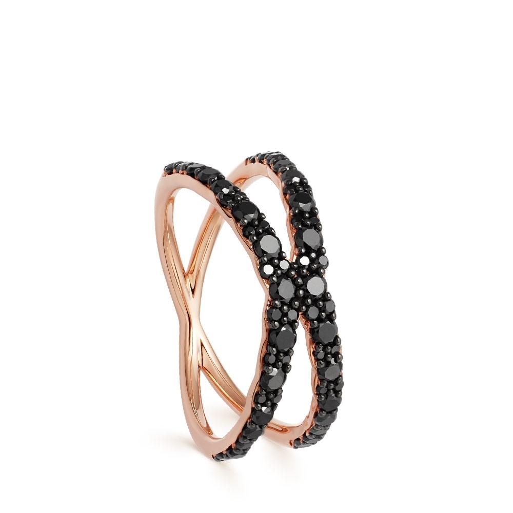 Fusion Interstellar Black Diamond Ring