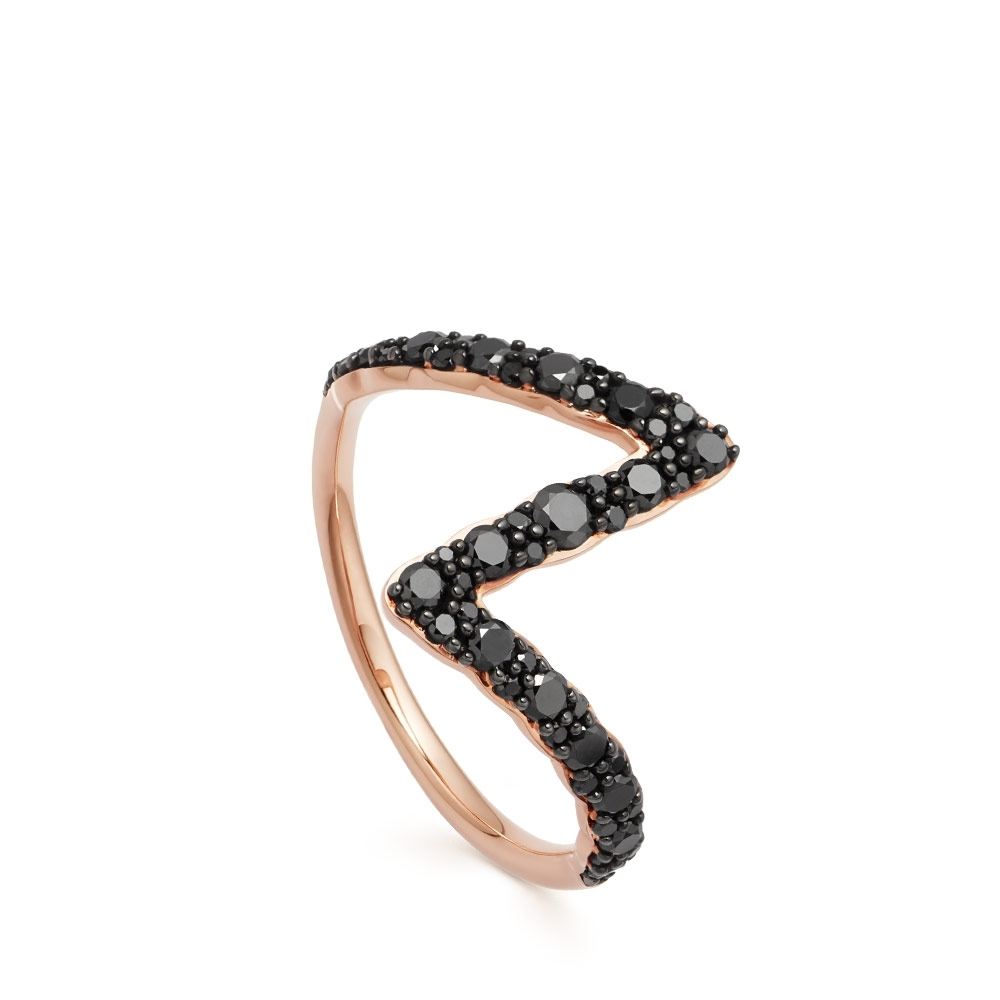 Flash Interstellar Black Diamond Ring