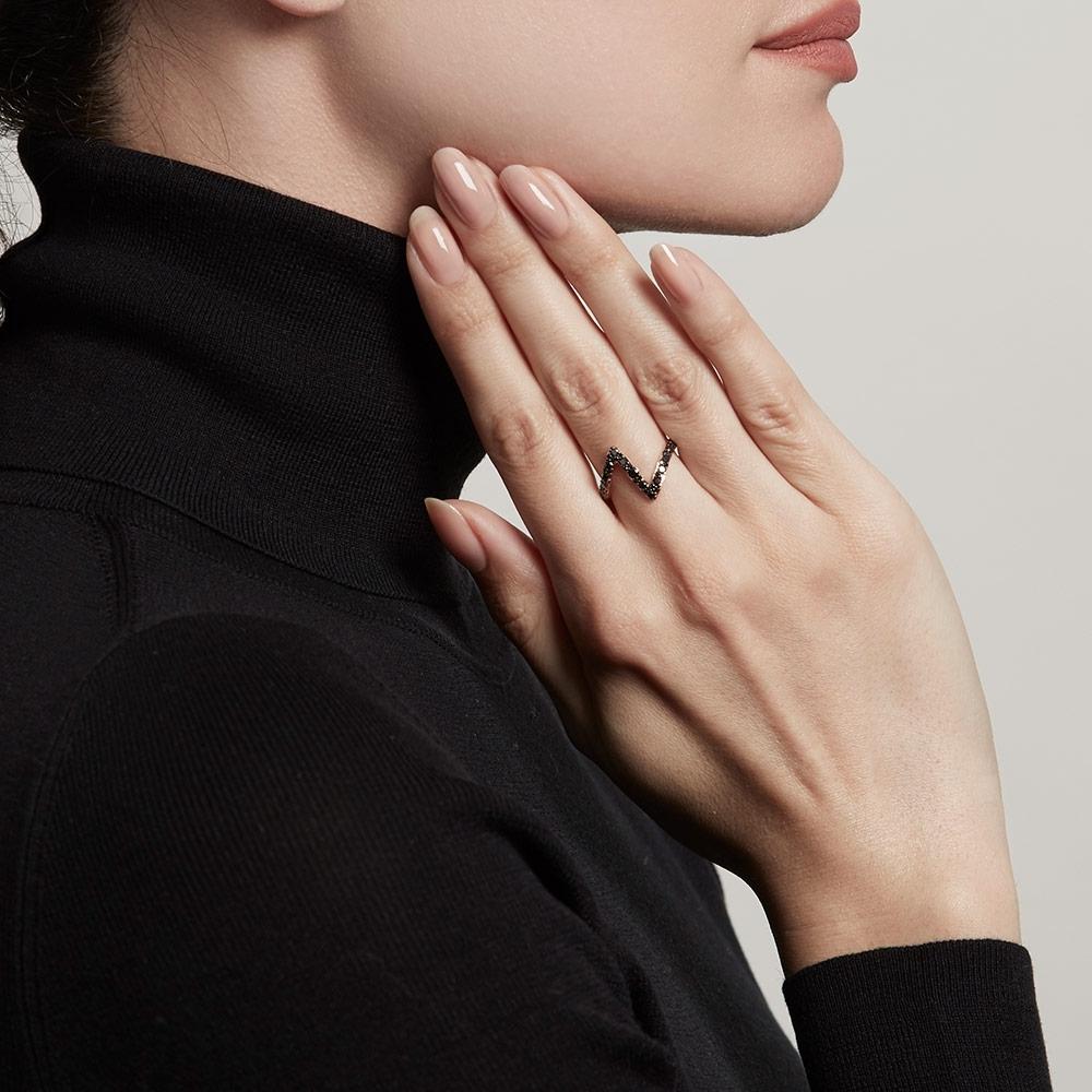 Flash Interstellar Black Diamond Ring