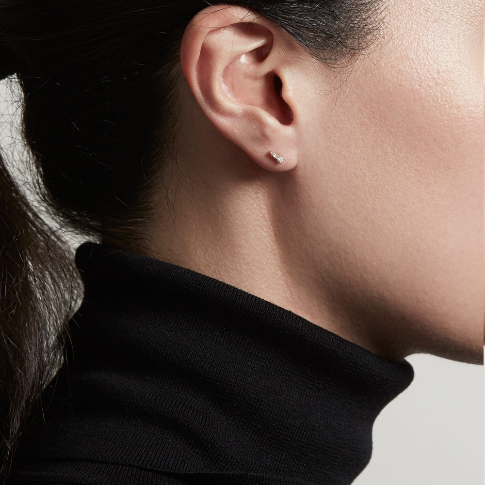 Mini Interstellar Diamond Stud Earrings