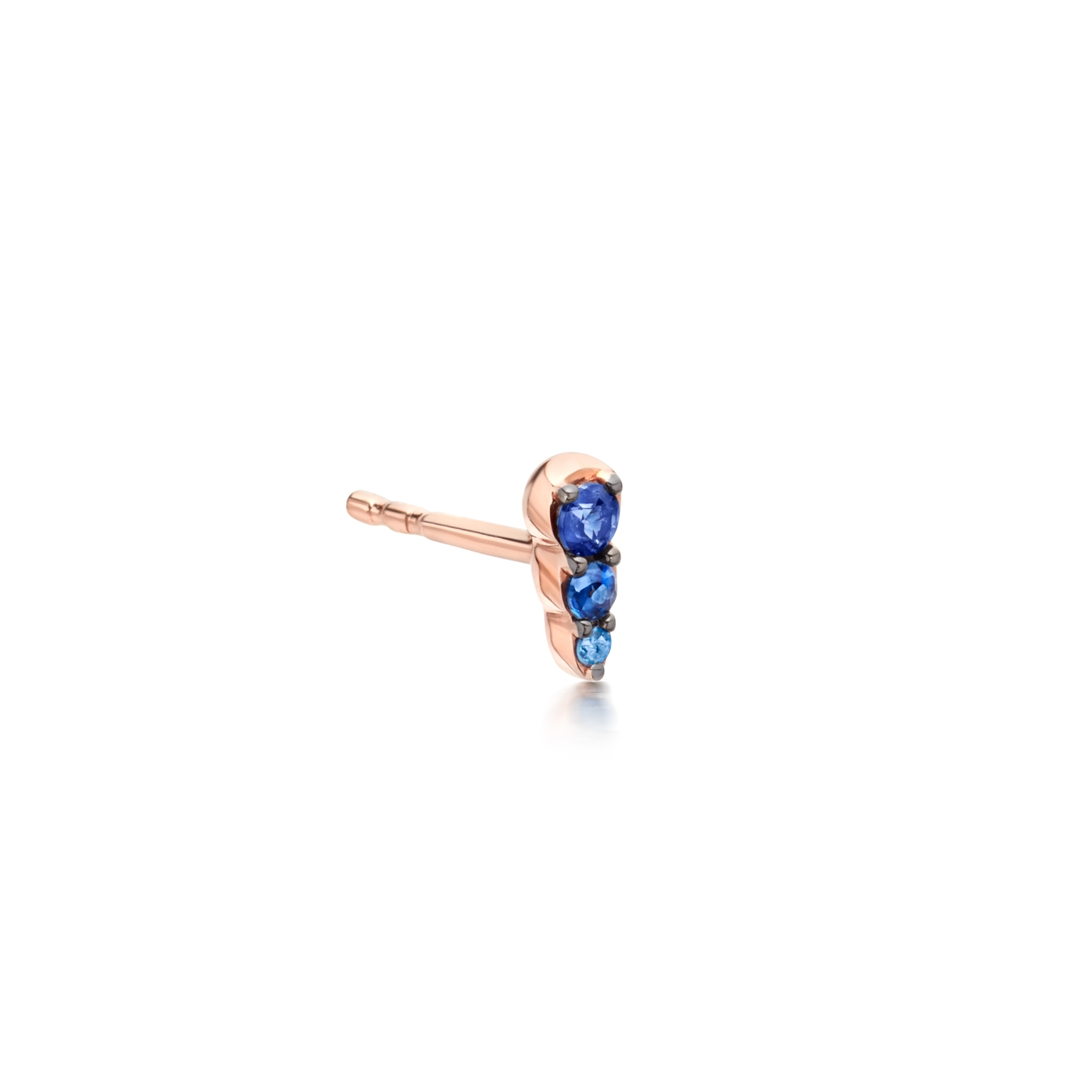 Sapphire Mini Interstellar Single Stud Earring