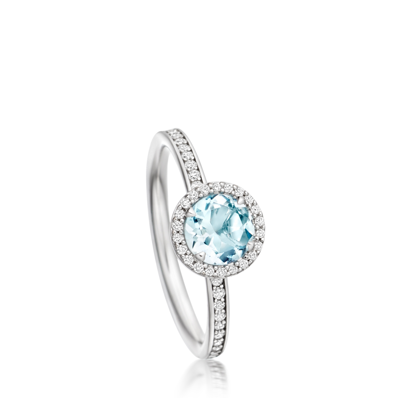 Aquamarine Leah Ring