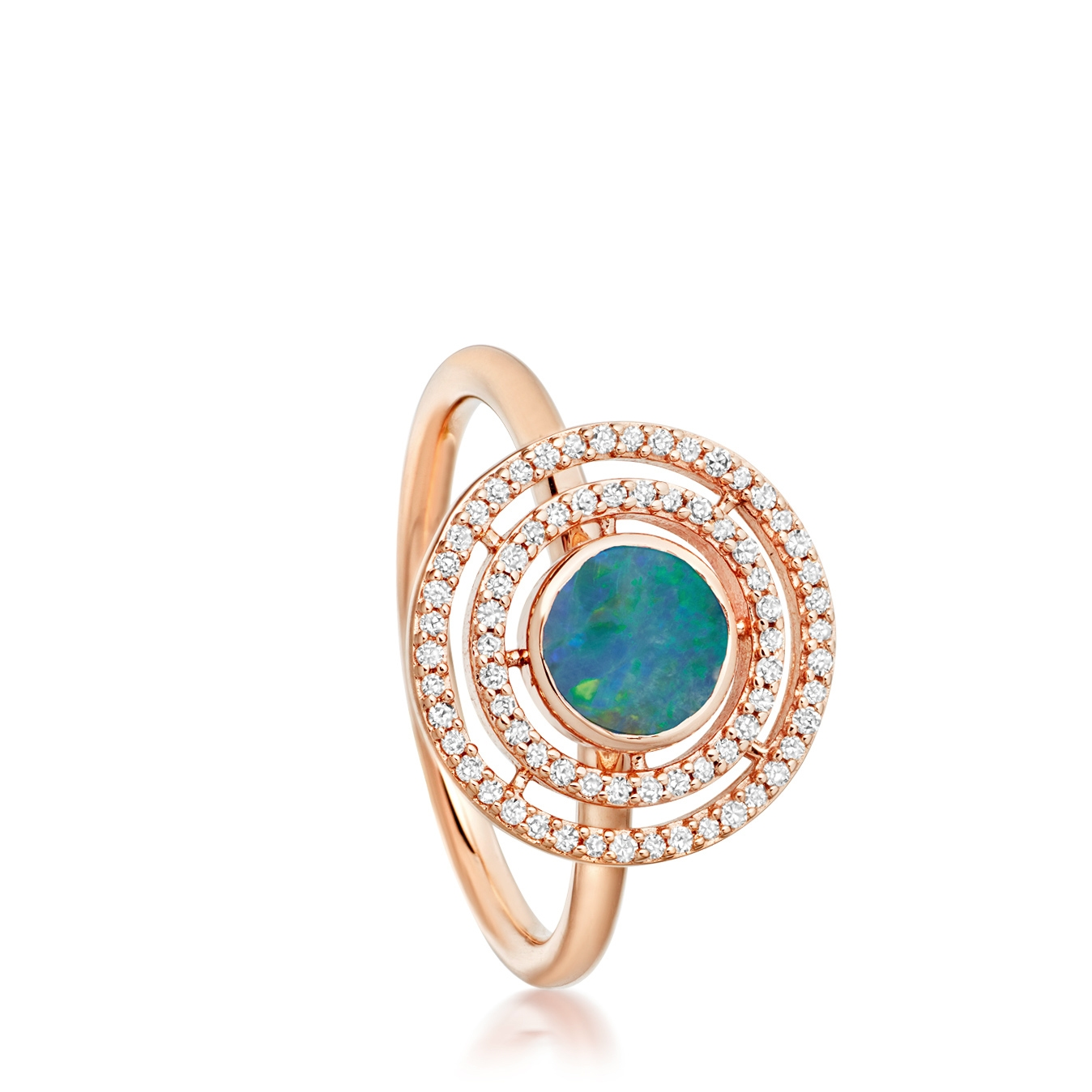 Blue Opal Icon Aura Ring