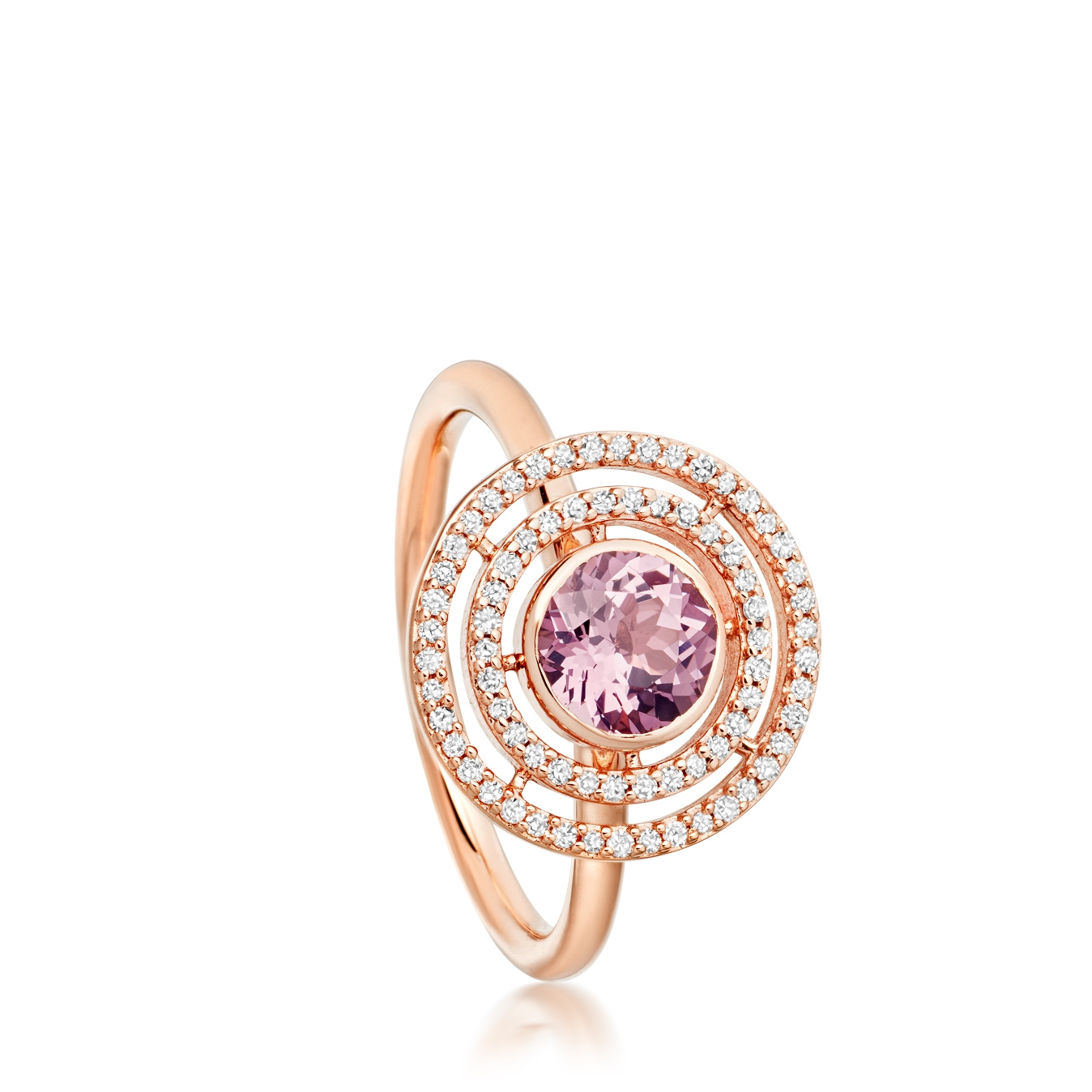 Lavender Spinel Icon Aura Ring