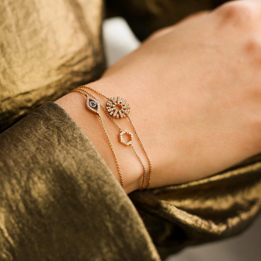 Evil Eye Fine Biography Sapphire Bracelet
