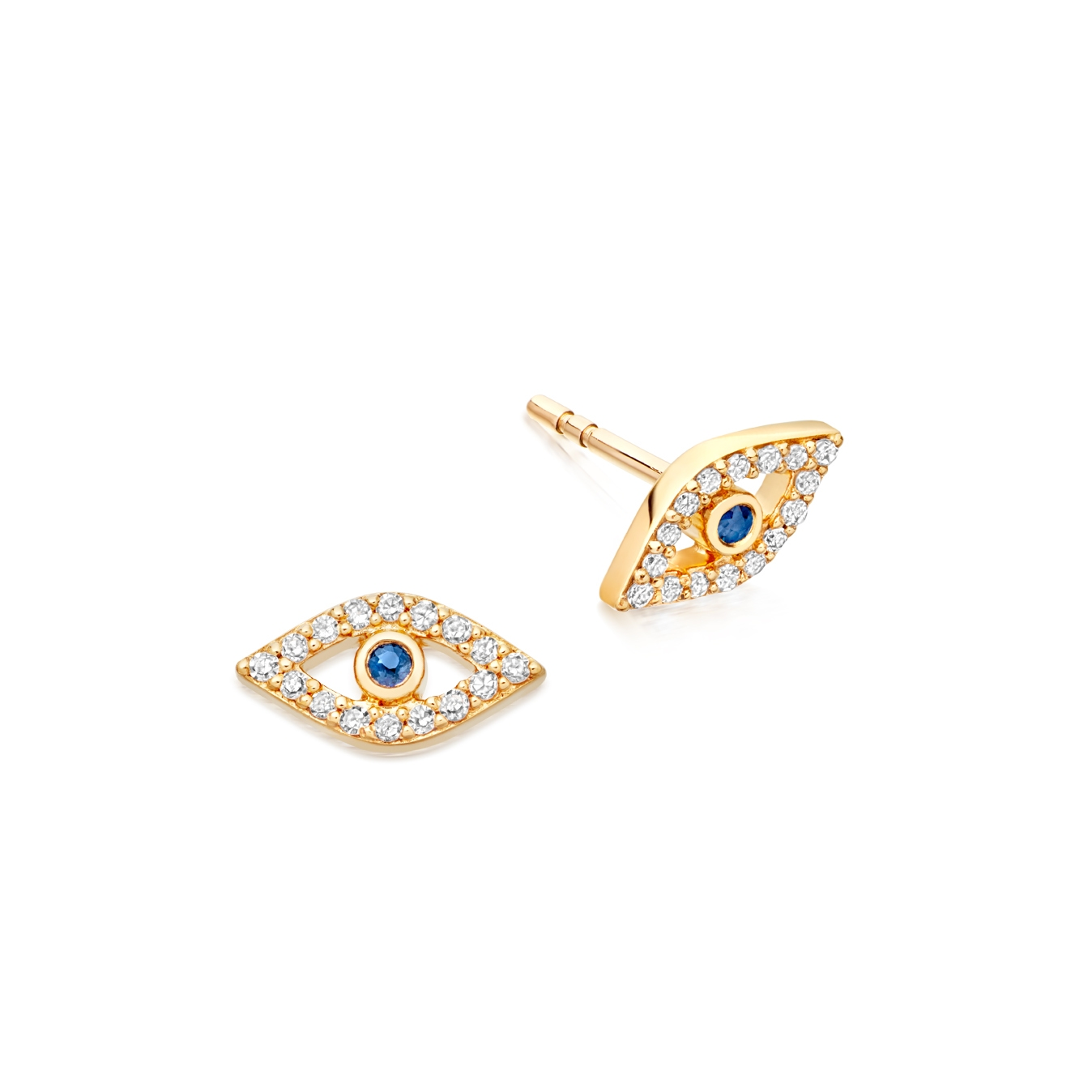 Evil Eye Fine Biography Stud Earrings