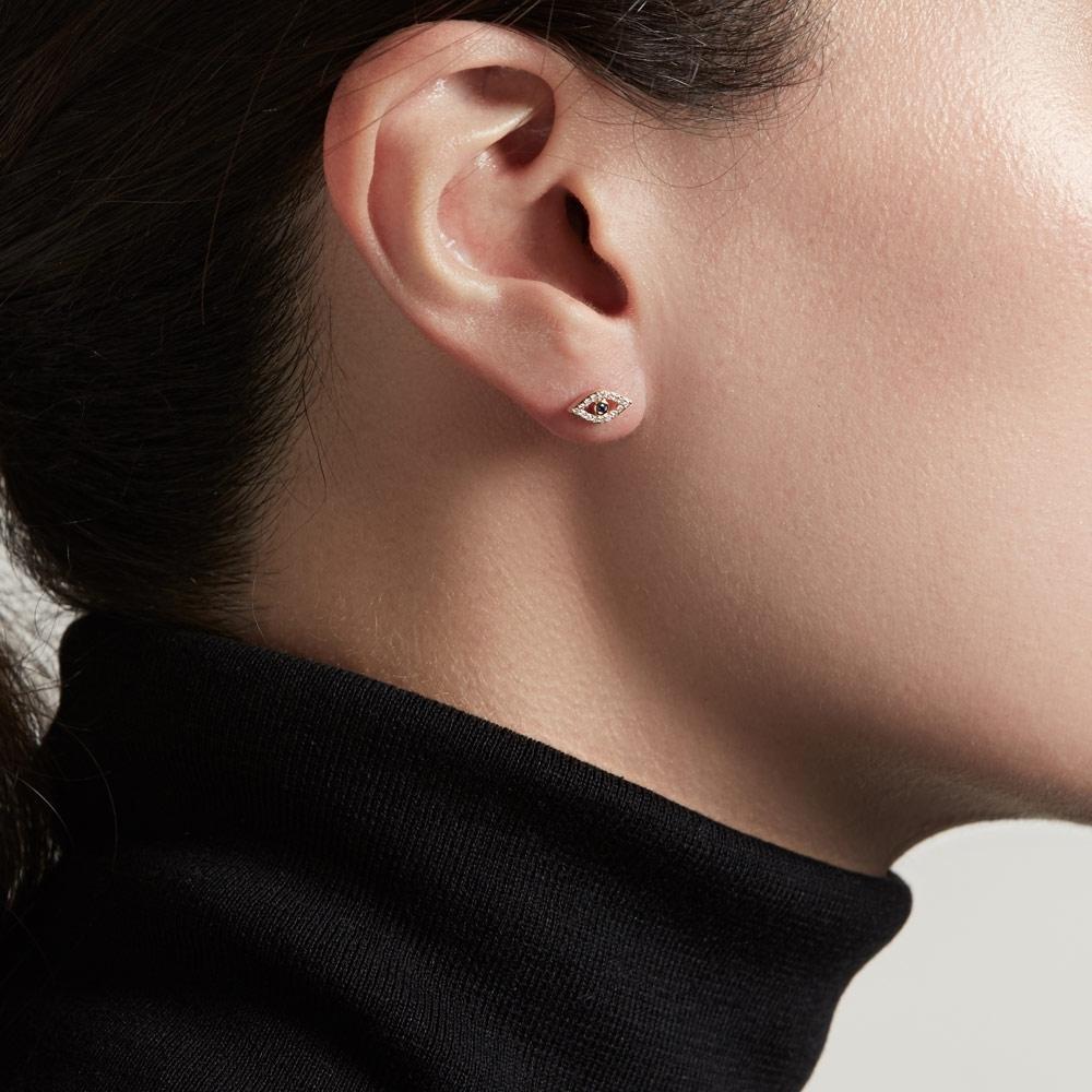 Evil Eye Fine Biography Single Stud Earring