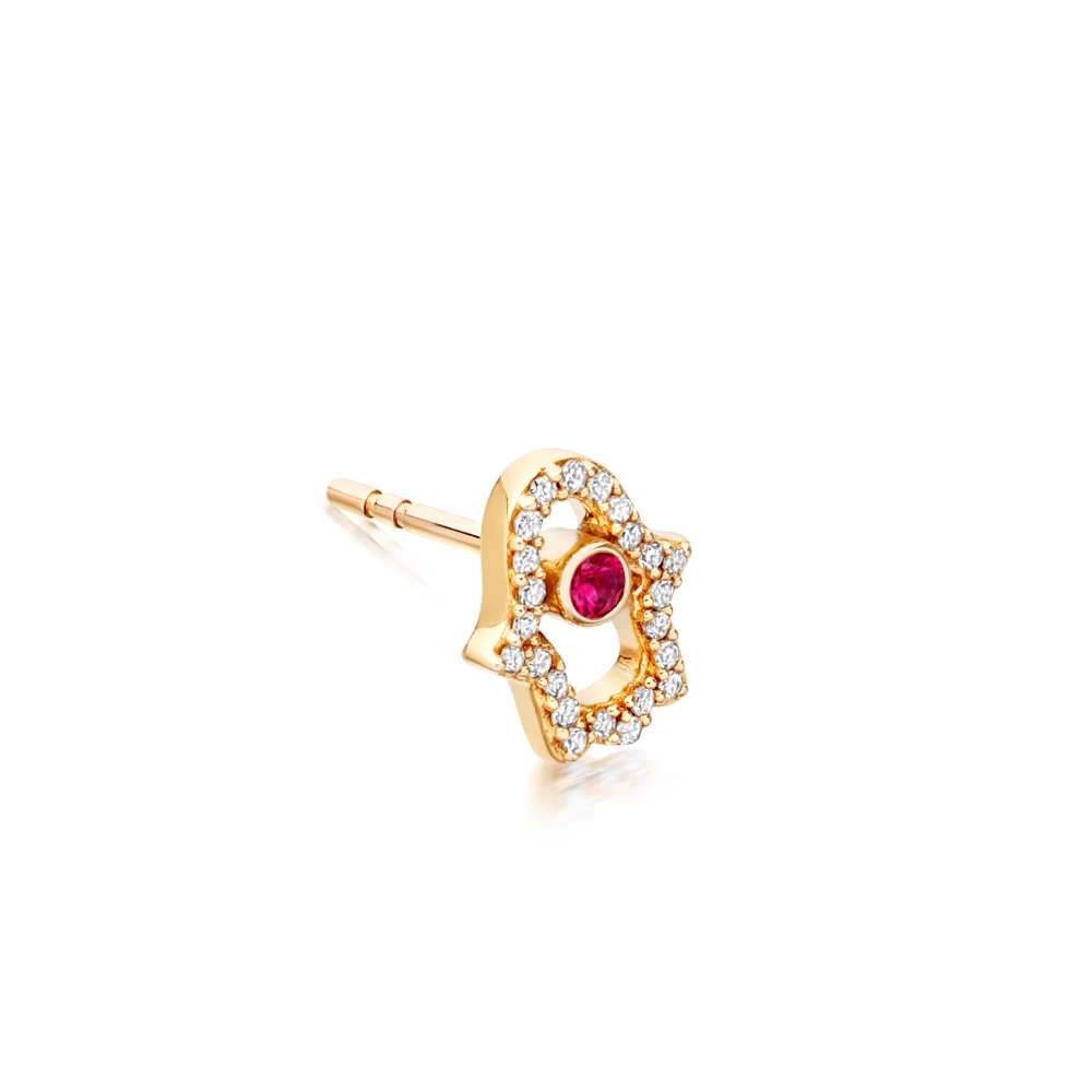Hamsa Fine Biography Single Stud Earring