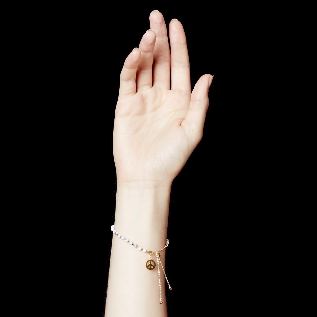 Howlite Peace Kula Bracelet