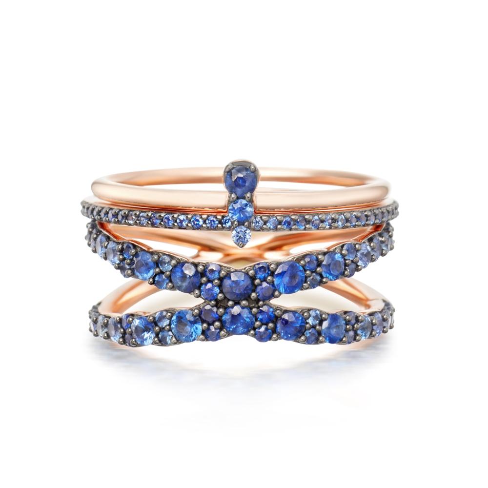 On Sapphire Seas Interstellar Ring Stack