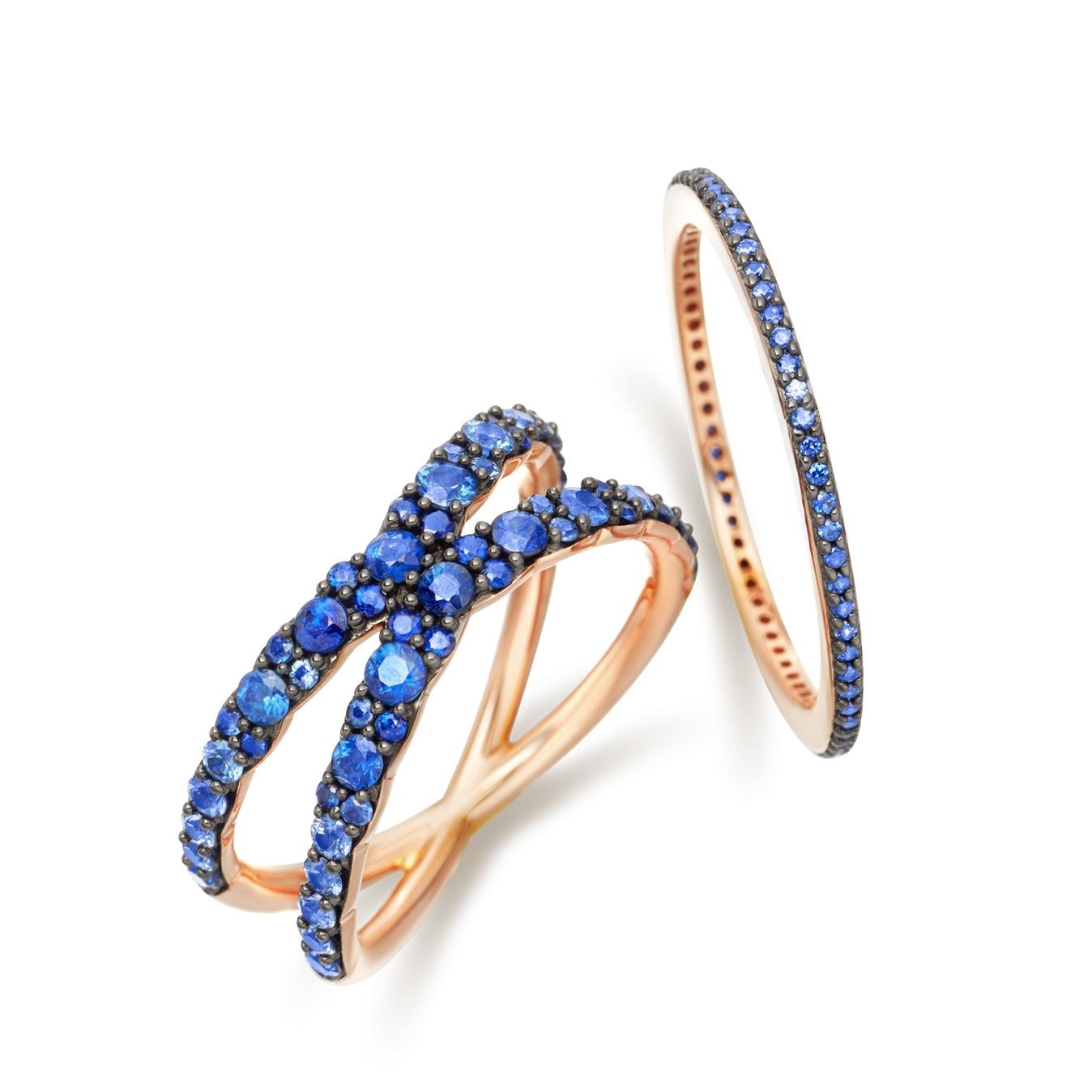 Sapphire Infinity Interstellar Ring