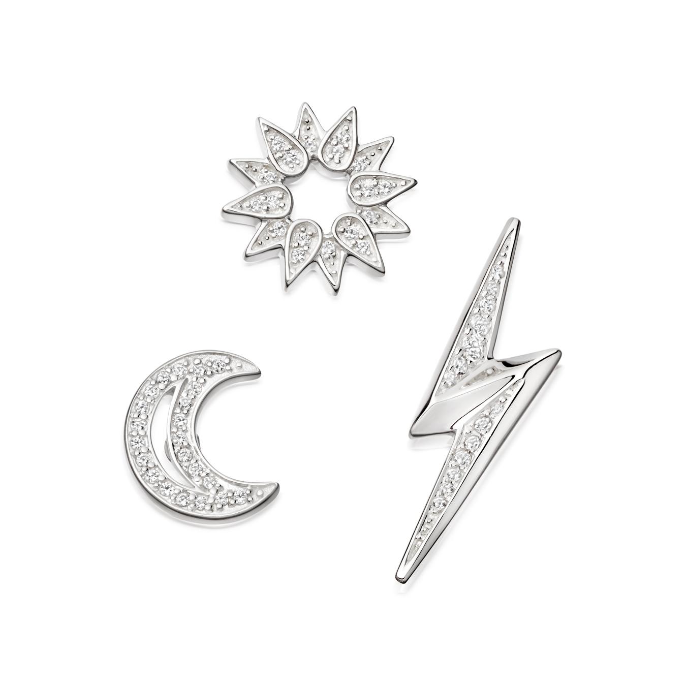 Silver Edge Biography Pin Set