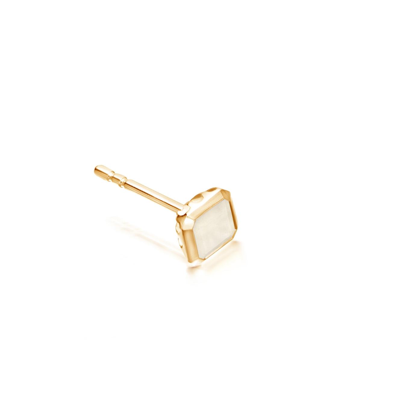 Moonstone Square Prismic Single Stud Earring