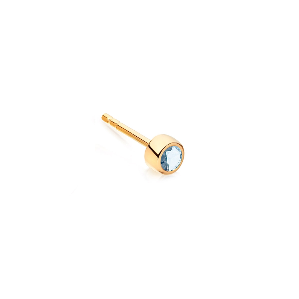 Mini London Blue Topaz Single Stud Earring