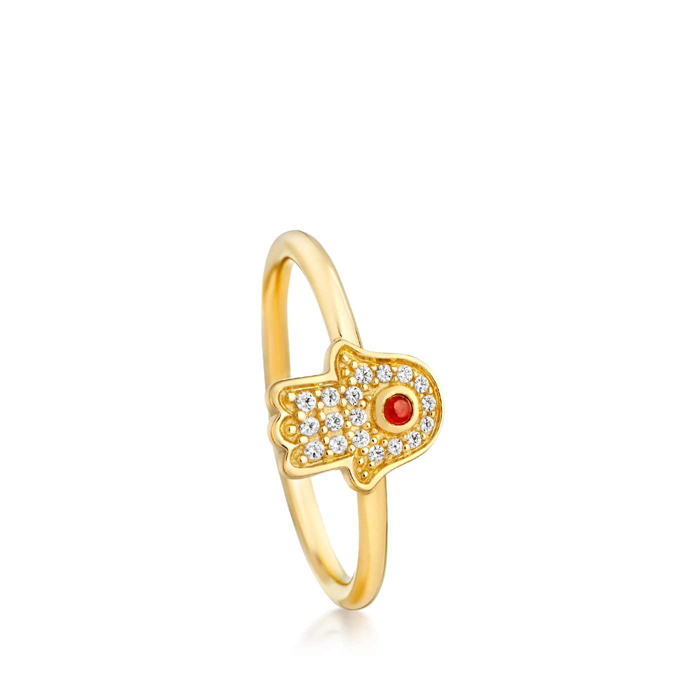Mini Hamsa Biography Ring