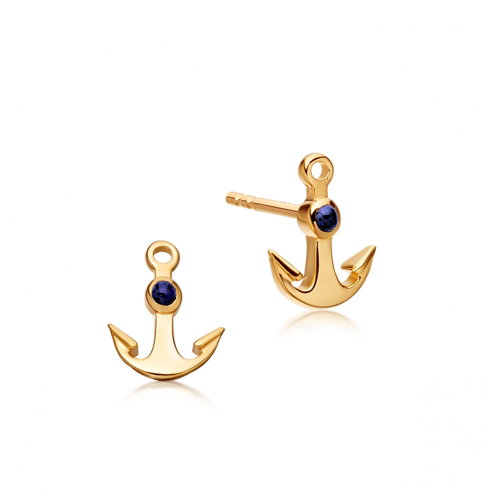Mini Anchor Biography Stud Earrings