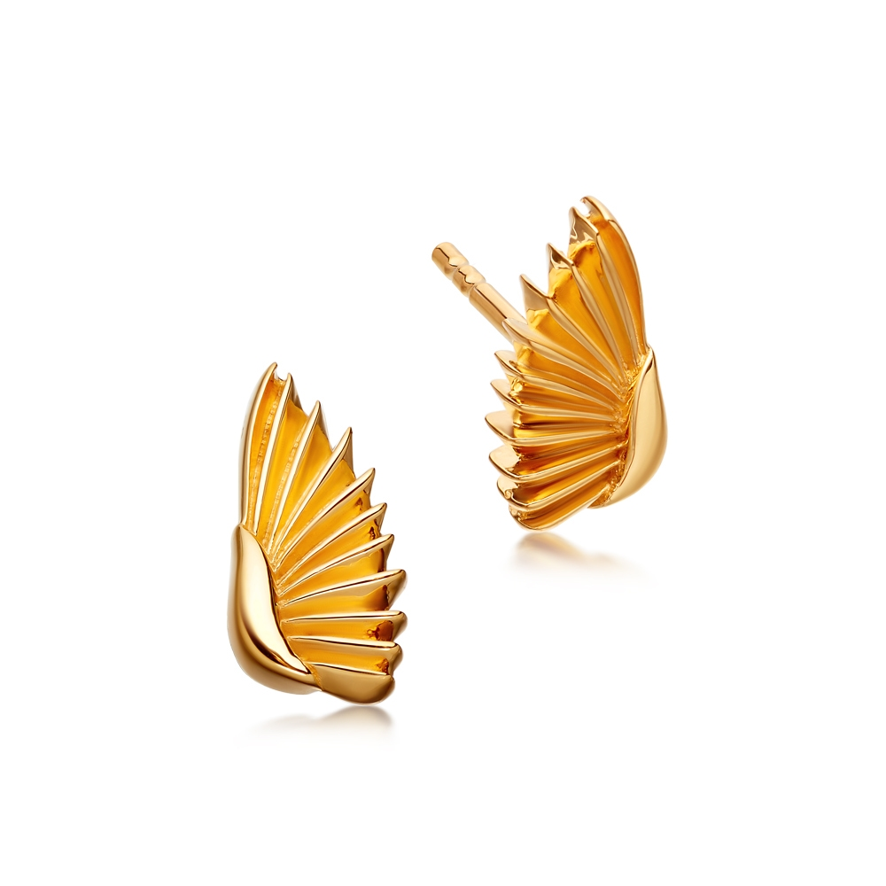 Mini Angel Wings Biography Stud Earrings