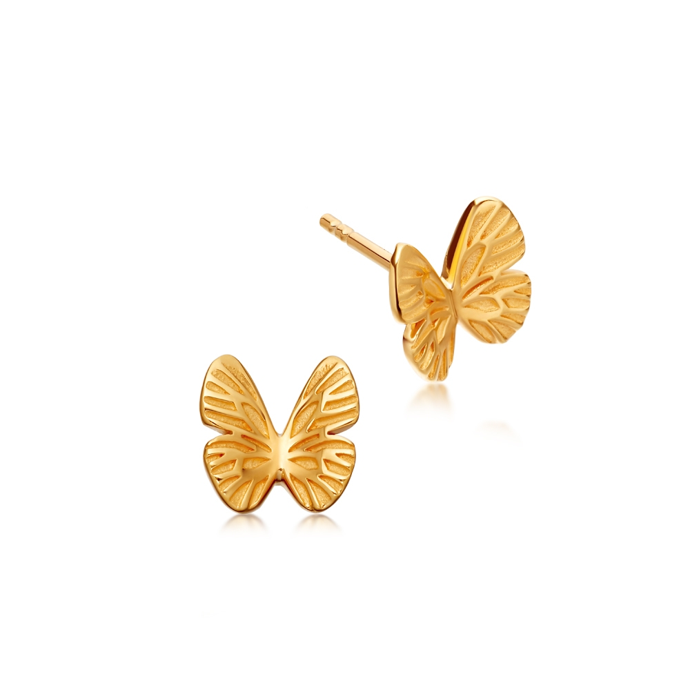 Mini Butterfly Biography Stud Earrings