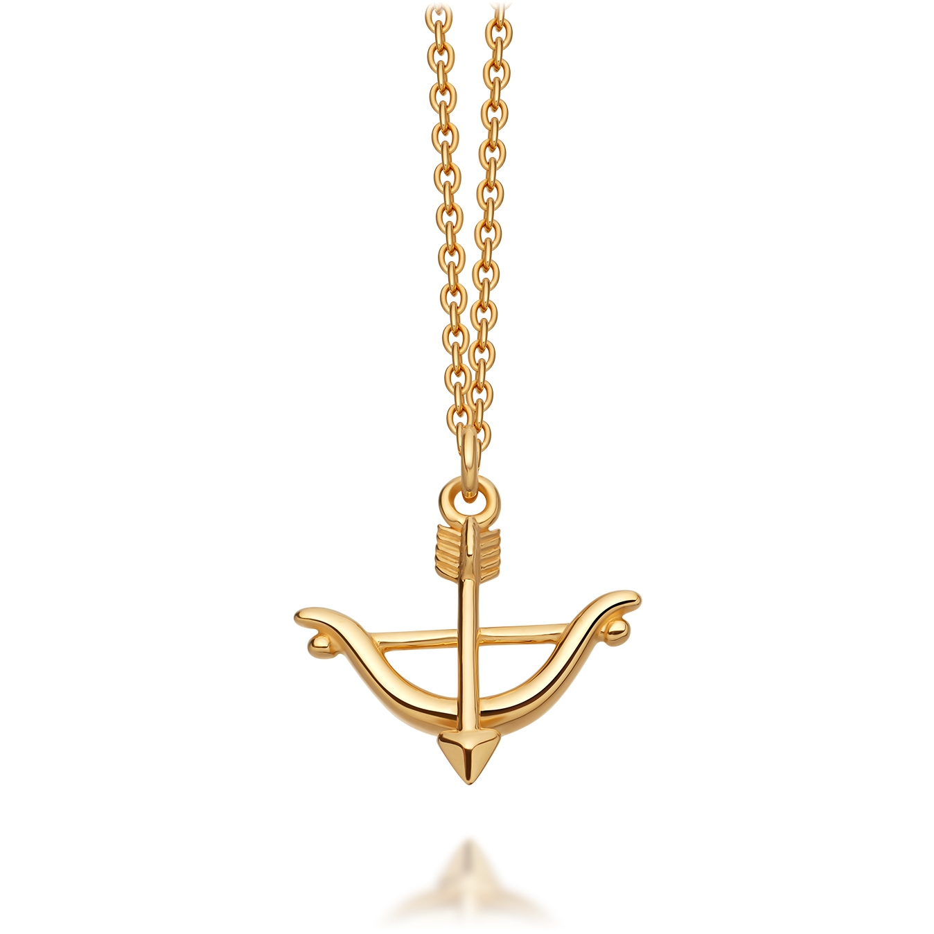 Bow and Arrow Biography Pendant