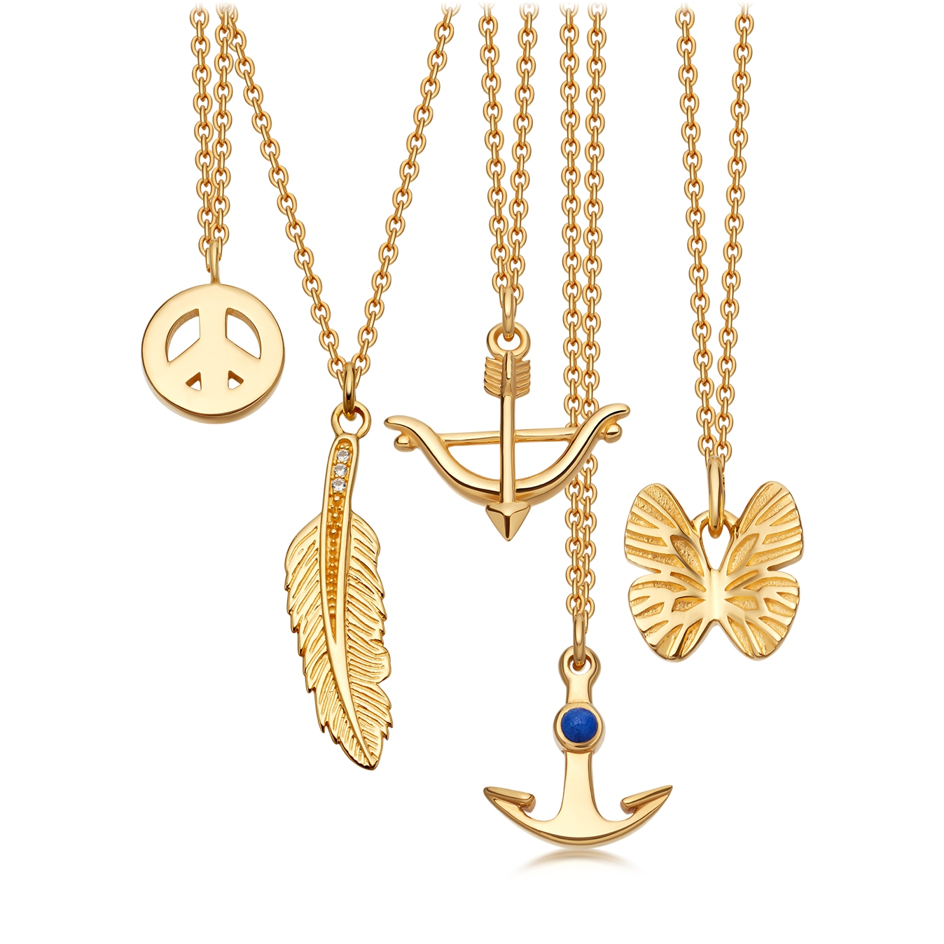 Anchor Biography Pendant
