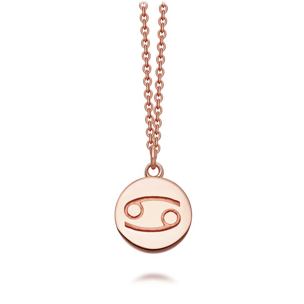 Cancer Zodiac Biography Pendant