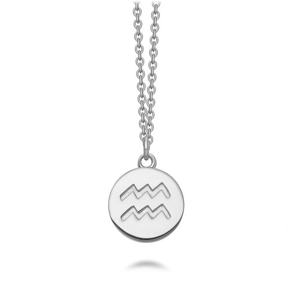 Aquarius Zodiac Biography Pendant