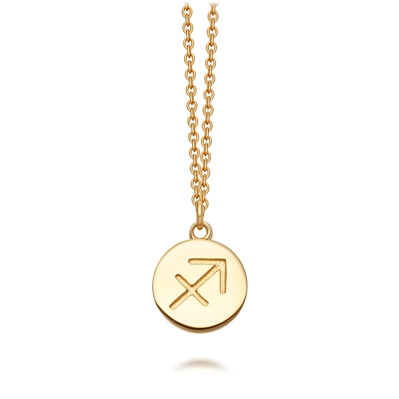 Sagittarius Zodiac Biography Pendant Necklace