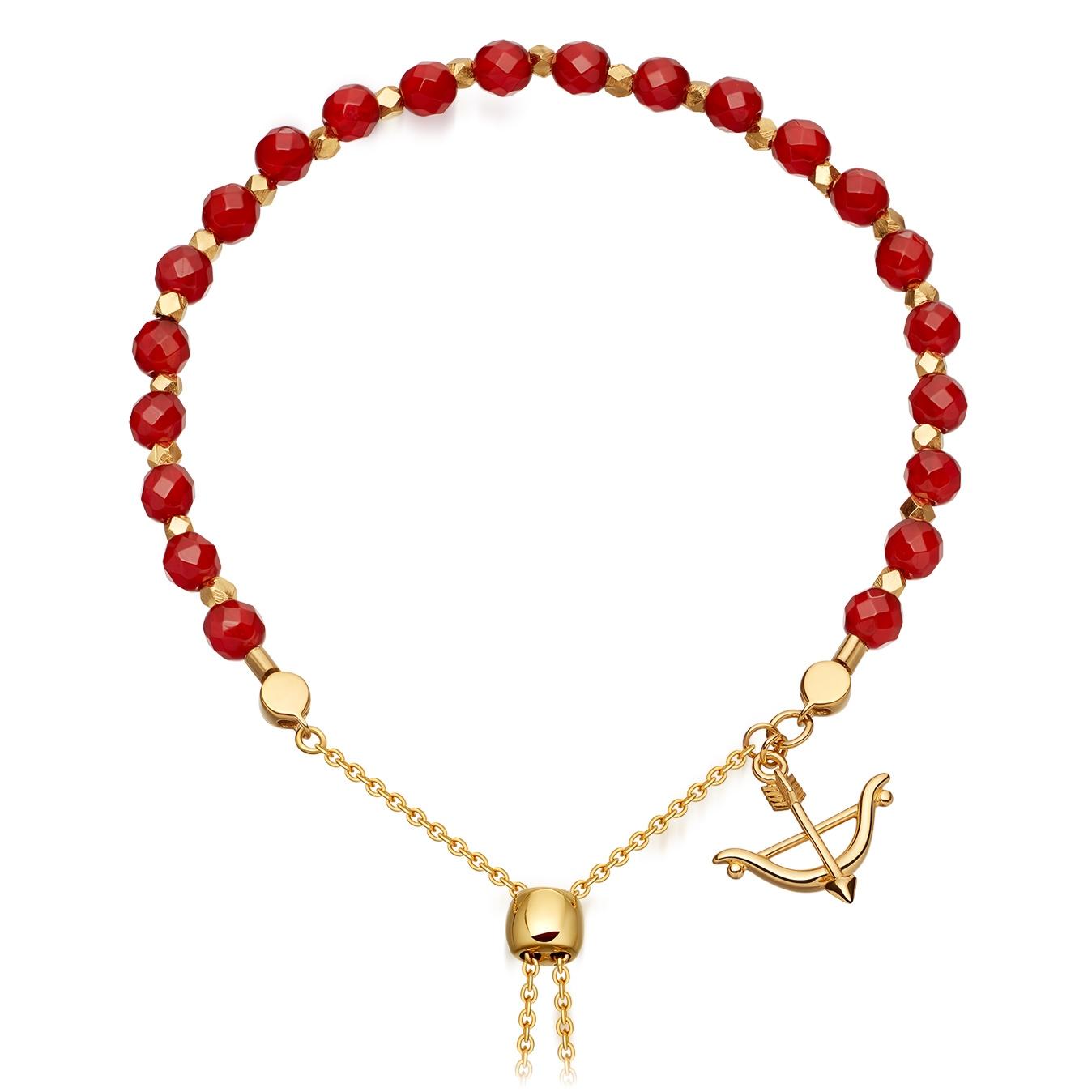 Carnelian Super Kula Bow and Arrow Bracelet