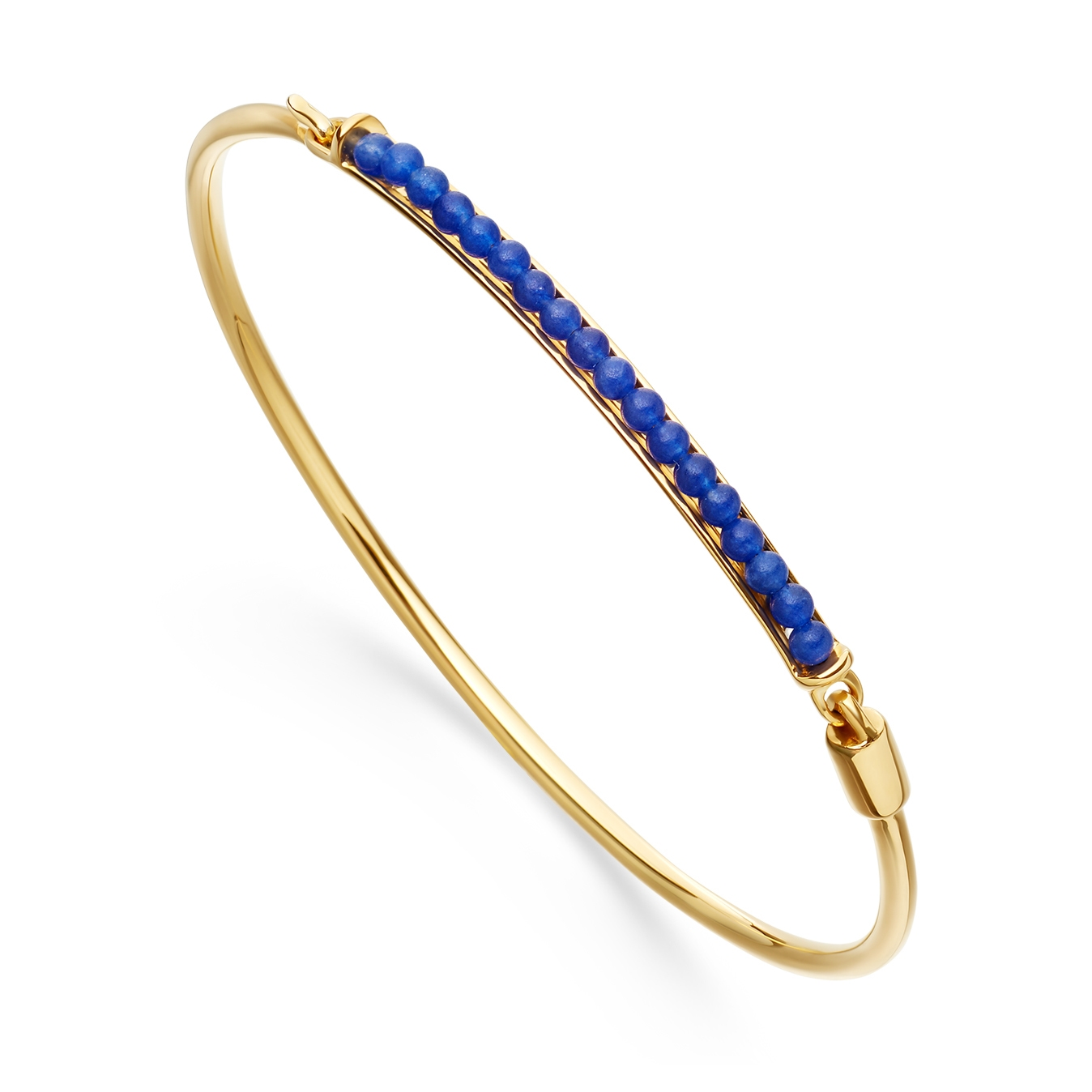 Blue Agate Biography Bangle