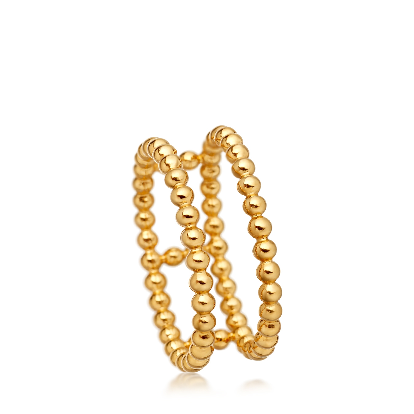 Double Row Beaded Stilla Ring