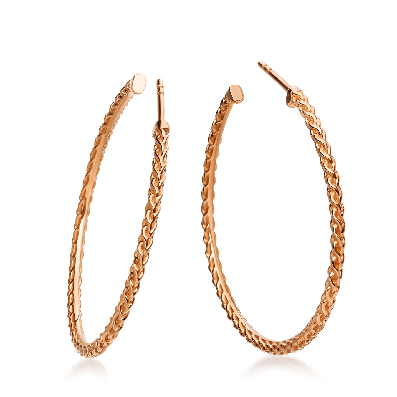 Large Spiga Hoop Earrings