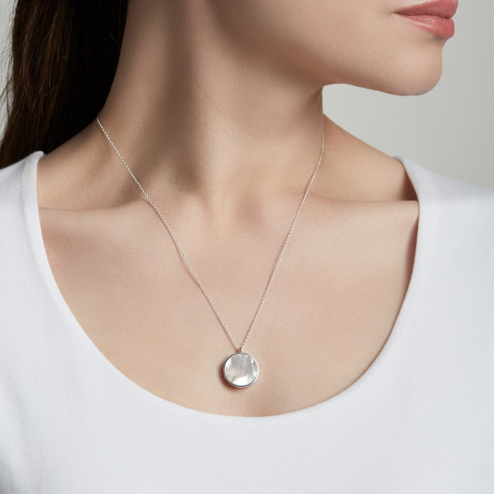 Stilla Silver Mother of Pearl Locket Necklace
