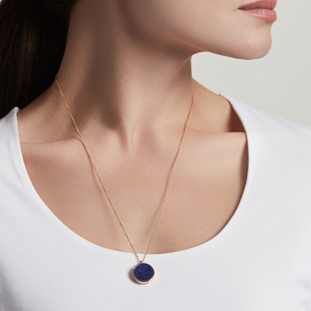 Lapis Slice Stilla Locket Necklace