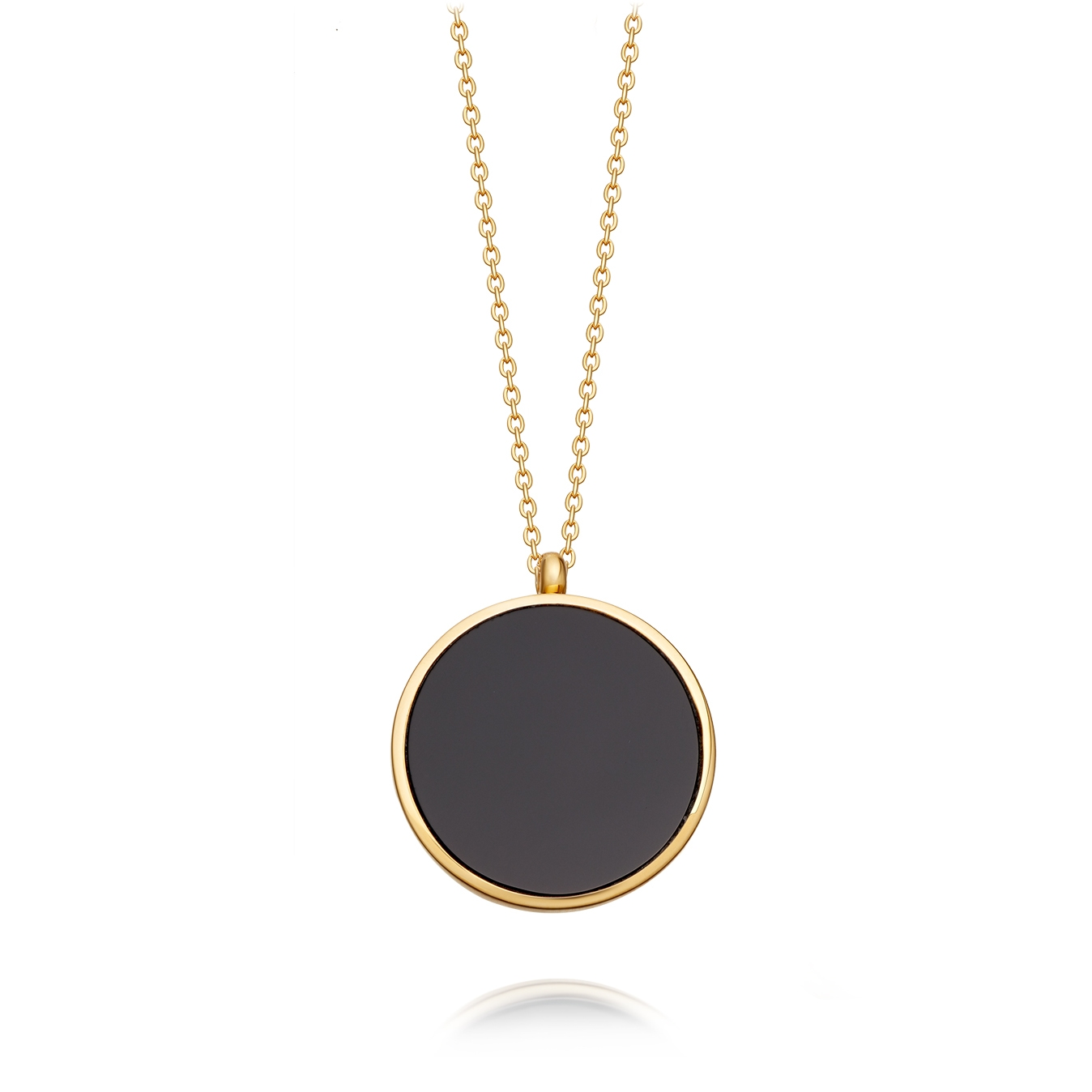 Stilla Gold Black Onyx Locket Necklace