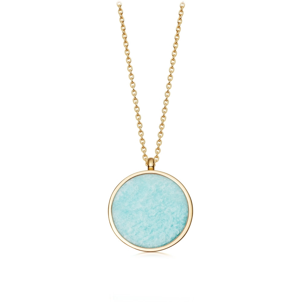 Stilla Amazonite Locket Necklace