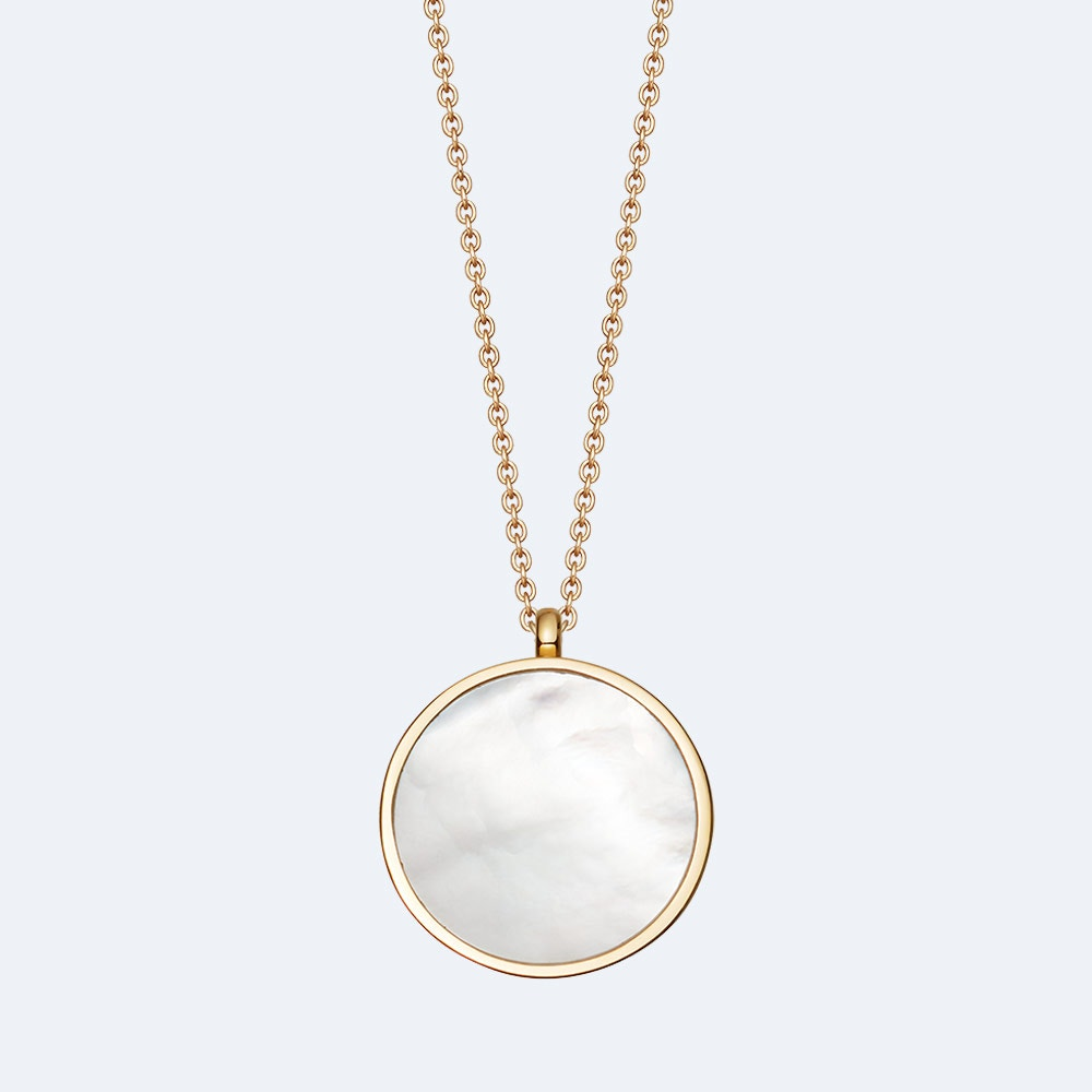 Mother of Pearl Slice Stilla Locket Necklace