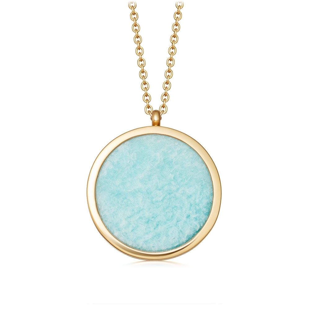 Large Stilla Amazonite Locket Necklace