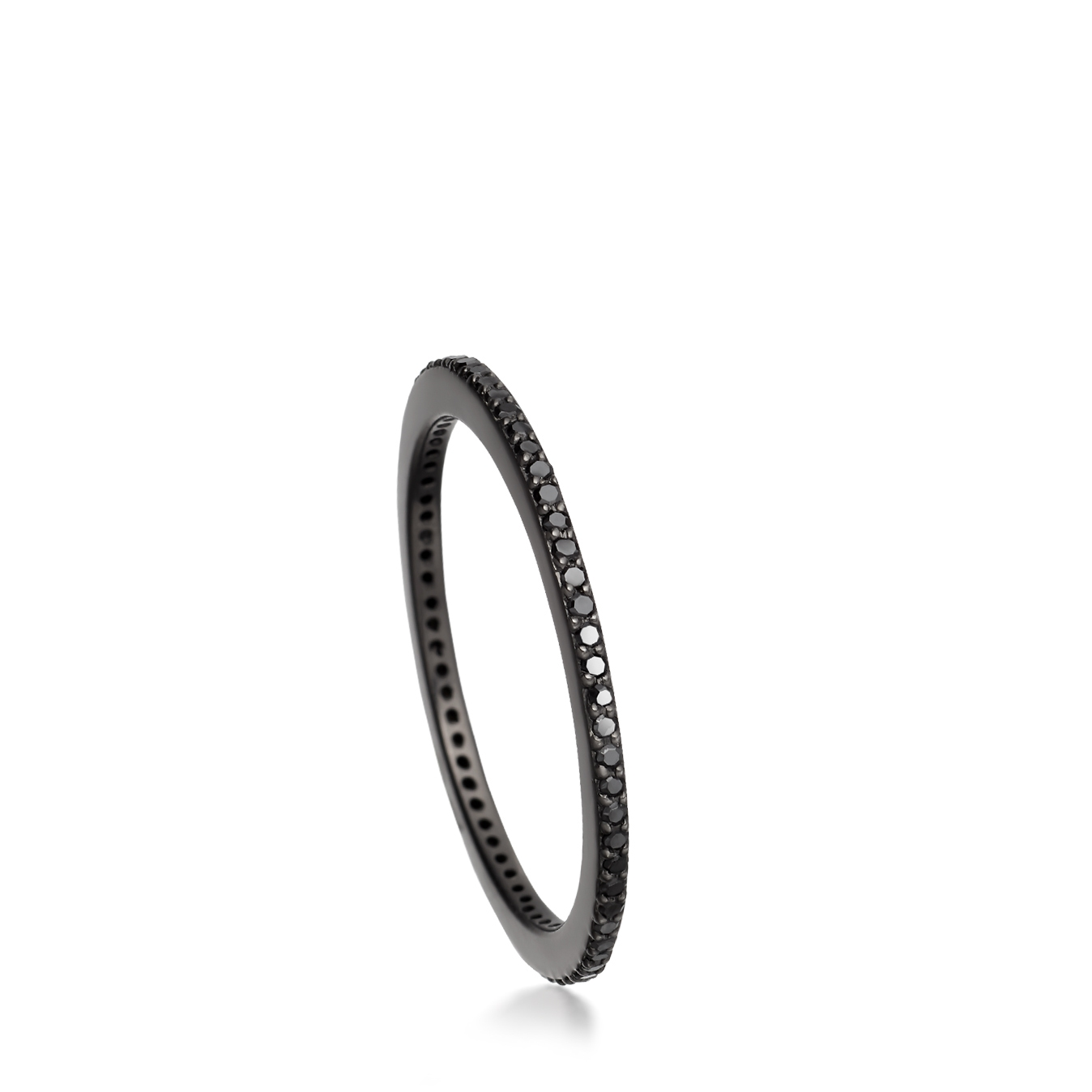 Black&Black Halo Eternity Ring