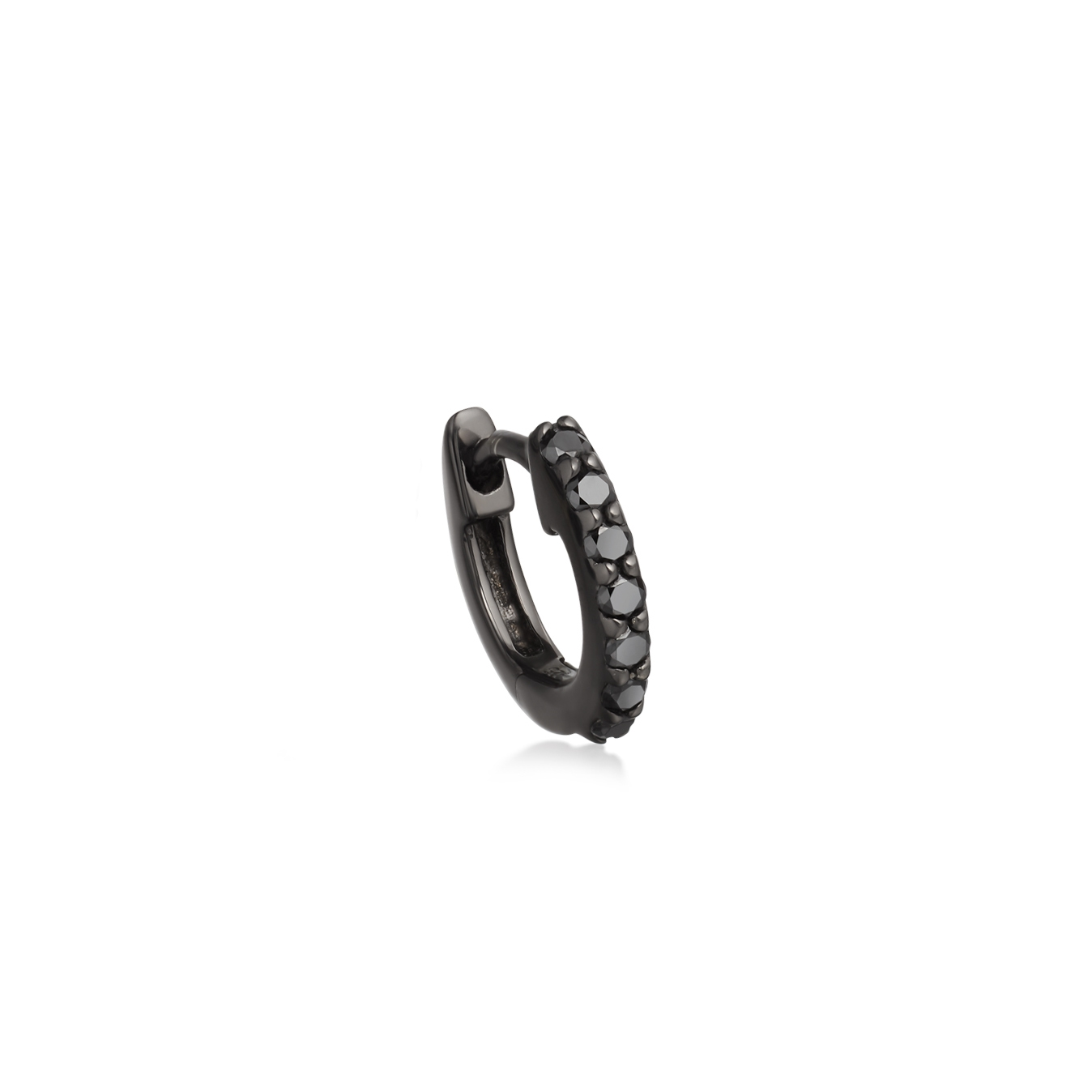 Black&Black Mini Halo Hoop Single Earring