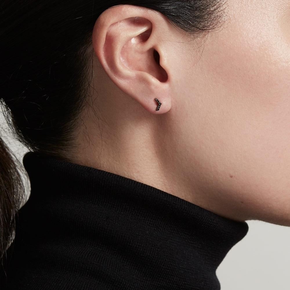 Varro Black Diamond Stud Earrings